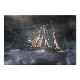 Racing  the storm photographic print