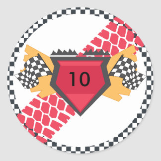Racing Theme Party Stickers