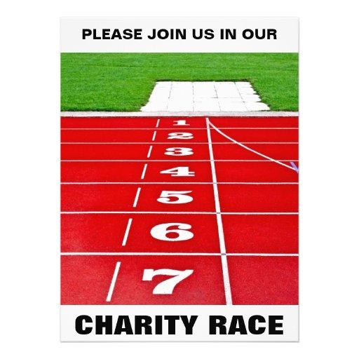 Racing Track Charity Invitation