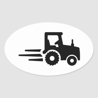 Racing tractor oval stickers