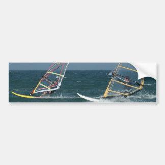 Racing Windsurfers Bumper Stickers