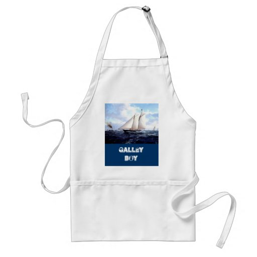 Racing yacht at sea apron