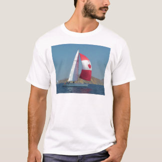 Racing Yacht With Canadian Spinnaker T-Shirt