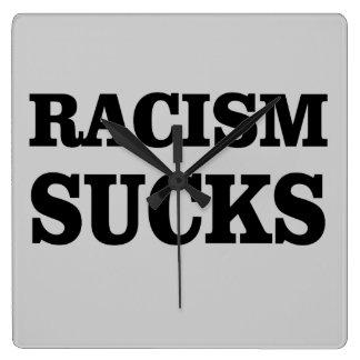 Racism sucks. wall clock