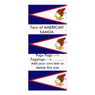 Rack Card with Flag of American Samoa, U.S.A.