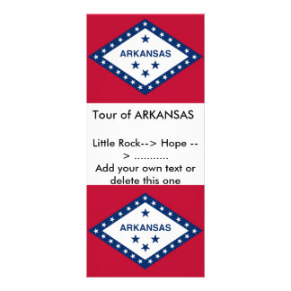 Rack Card with Flag of Arkansas, U.S.A.