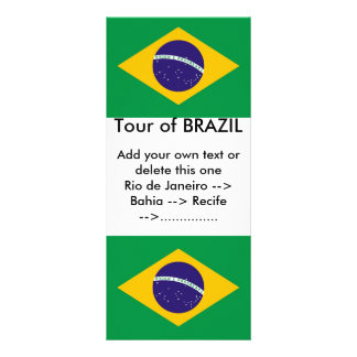 Rack Card with Flag of Brazil