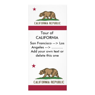 Rack Card with Flag of California, U.S.A.
