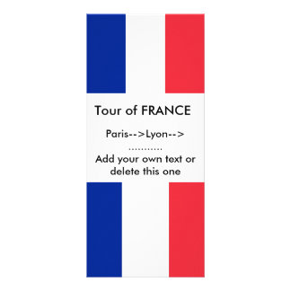 Rack Card with Flag of France