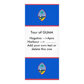 Rack Card with Flag of Guam, U.S.A.