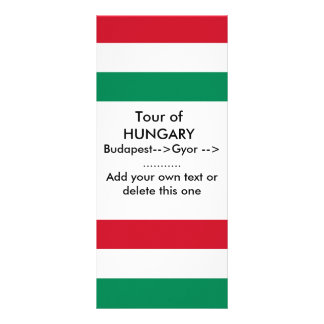 Rack Card with Flag of Hungary