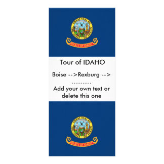 Rack Card with Flag of Idaho, U.S.A.