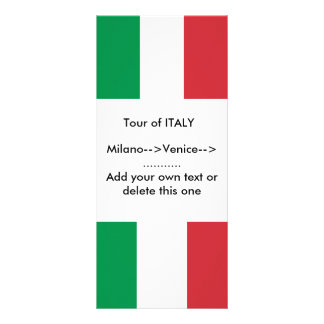 Rack Card with Flag of Italy