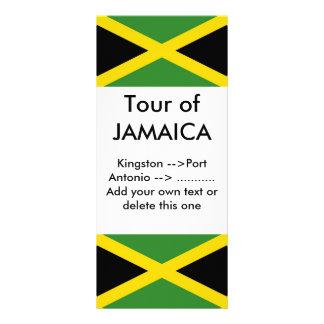 Rack Card with Flag of Jamaica