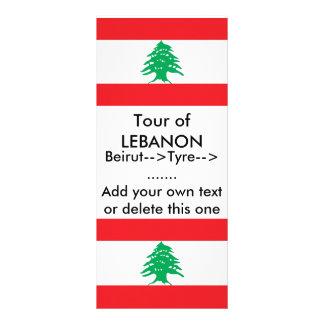 Rack Card with Flag of Lebanon