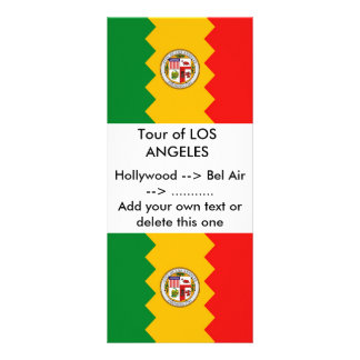Rack Card with Flag of Los Angeles, California