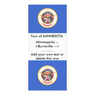 Rack Card with Flag of Minnesota, U.S.A.