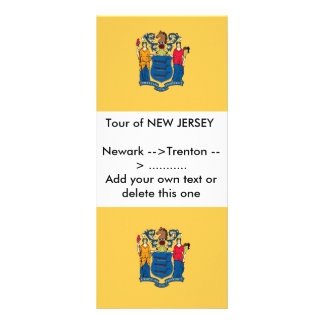 Rack Card with Flag of New Jersey, U.S.A.