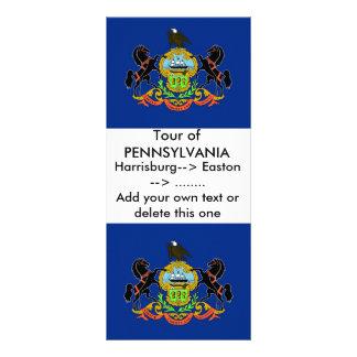 Rack Card with Flag of Pennsylvania, U.S.A.