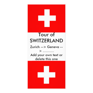 Rack Card with Flag of Switzerland