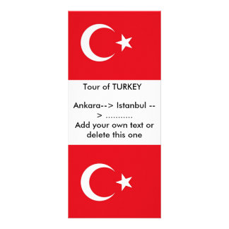 Rack Card with Flag of Turkey