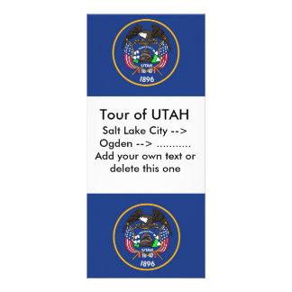Rack Card with Flag of Utah, U.S.A.