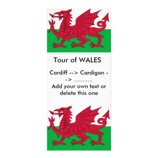 Rack Card with Flag of Wales