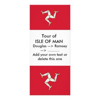 Rack Card with Isle of Man Flag, UK