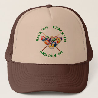 Rack 'em Crack 'em and Run 'em Trucker Hat