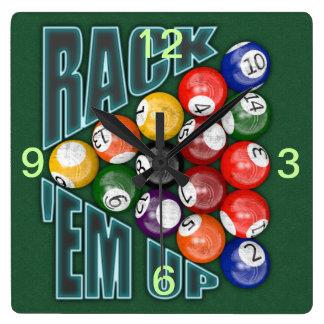 Rack Em Up Wallclock