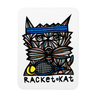 """Racket Kat"" Magnet"