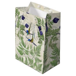 Racket Tail Hummingbird Birds Ferns Gift Bag