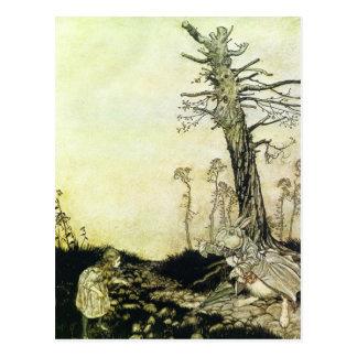 Rackham's Alice In Wonderland Postcard