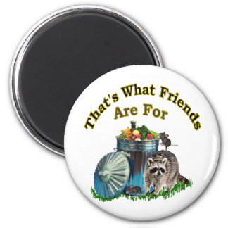 Racoon Friends Magnet