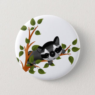 Racoon in a Tree 2 Inch Round Button