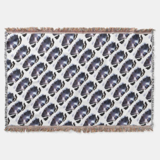 RACOON RACCOON - Photography Jean Louis Glineur Throw Blanket