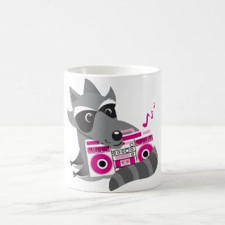 racoon rock coffee mug