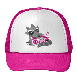 racoon rock trucker hat
