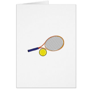 Racquet and Ball Card
