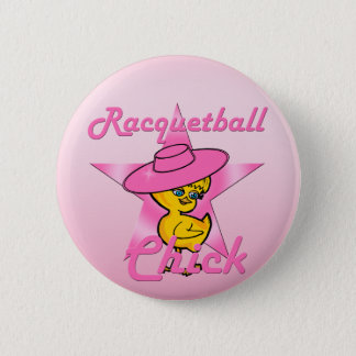 Racquetball Chick #8 2 Inch Round Button