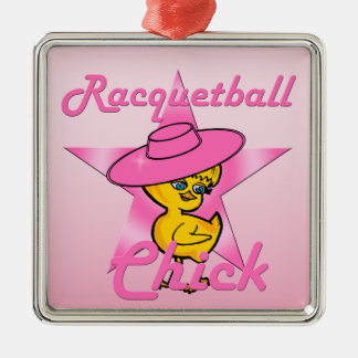 Racquetball Chick #8 Metal Ornament