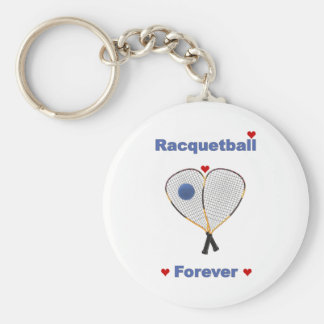 Racquetball Forever Basic Round Button Keychain