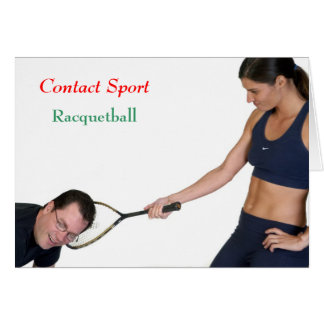 Racquetball Greeting Card