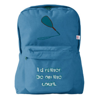 Racquetball I'd Rather Be on the Court Backpack