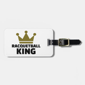 Racquetball king luggage tag