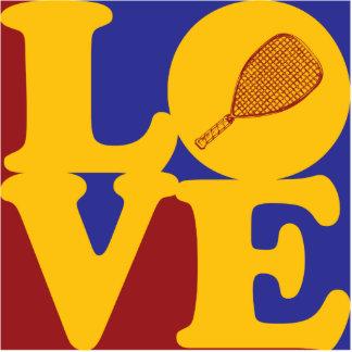 Racquetball Love Photo Sculpture Ornament