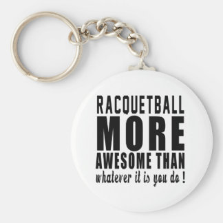 Racquetball more awesome than whatever it is you d basic round button keychain