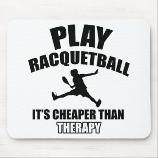 Racquetball player designs mouse pad