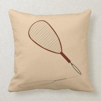Racquetball Racket Graphic Throw Pillow