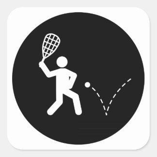 Racquetball Square Sticker